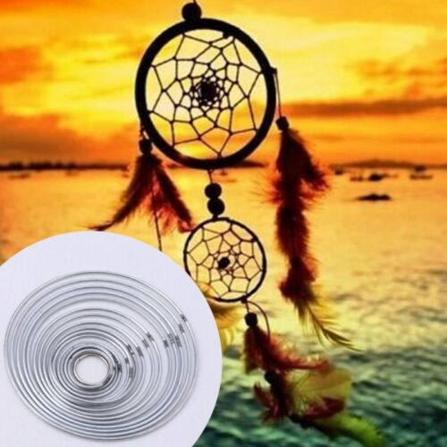 1/5x Strong Craft Metal Dreamcatcher/Macrame Hoops/Ring Feather Pentacle Novelty 3
