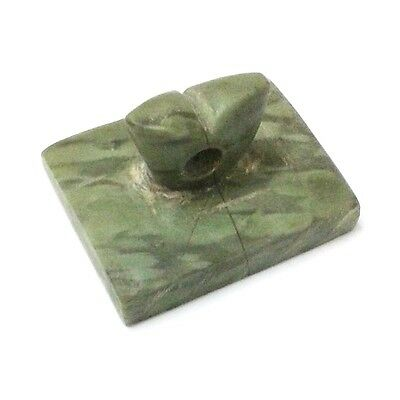 Old Near Eastern Intaglio Animal Carving Jade Stone Stamp Collectible Green 4