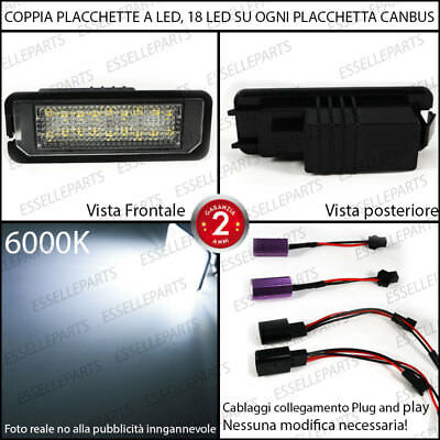 Coppia Luci Targa 18 Led Placchette Complete Vw Scirocco 6000K Bianco Canbus 2