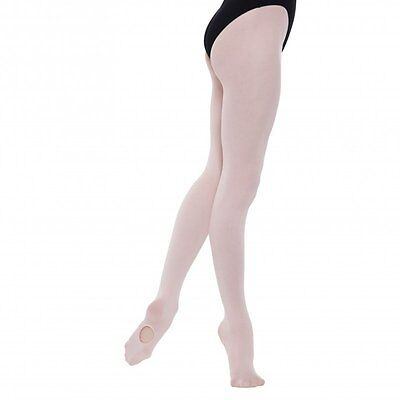 High Performance Girls Convertible Ballet Tights in Theatrical Pink Ages 7-13