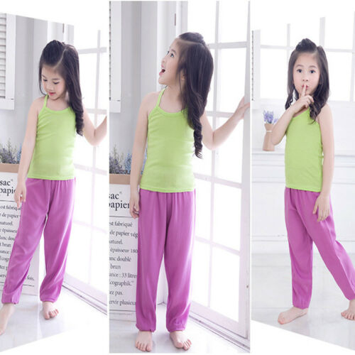 Kids Girls Boys Harem Loose Trousers Baggy Bloomer Pants Children Dance Bottoms 7