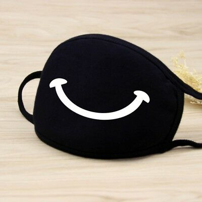 Adults Black Cute Anime Emoticon Mouth Muffle Anti Dust Korea Cotton face mask 9