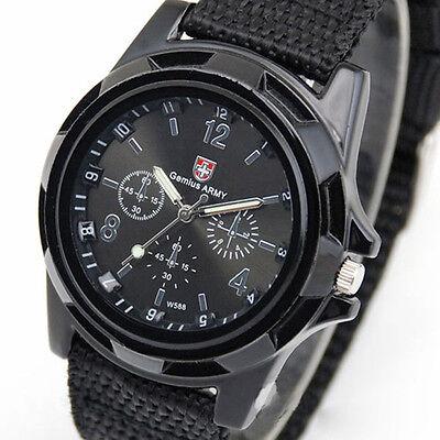 Men's Watch Wristwatch Sport Military Analog Army Quartz Canvas Strap Mens Gift 2