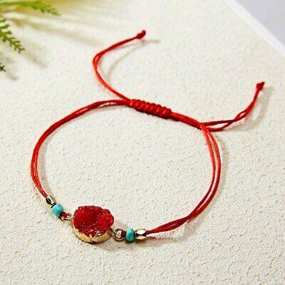 Handmade Natural Stone Rope Bracelet Bangle Friendship Couple Card Jewelry Gifts 10