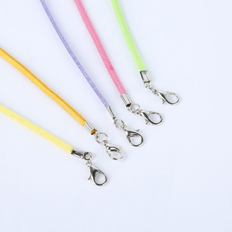 10 PCS Suede Leather String Necklace Cords With Clasp DIY Jewelry Accessories 3