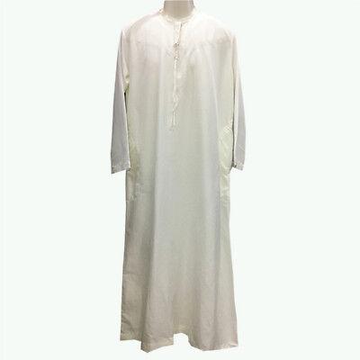 Men Yemeni Omani Qatari 2019 Dishdasha Jubbah Kaftan Arab Thobe Islamic Clothing