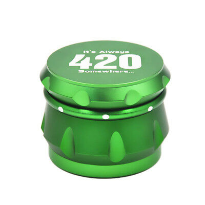 "1 X Crusher Drum 2.5"" 4 Layers Tobacco Herb Grinder Spice Miller-Green 2"