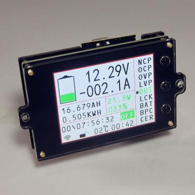 Wireless Battery Monitor Meter DC 120V 300A VOLT AMP AH SOC Remaining Capacity 2