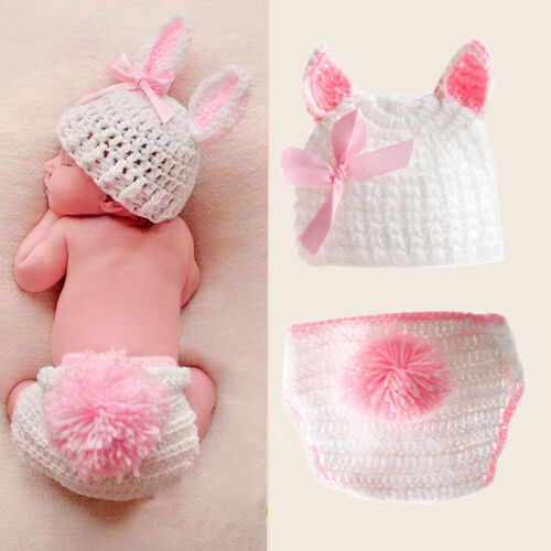 Baby Boys Girls Newborn Crochet Knit Costume Photo Photography Prop Outfits NEW