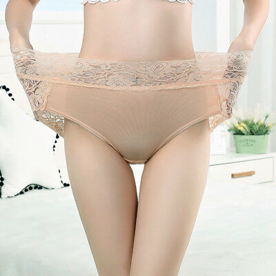 Women High-waisted Lace Floral Thong G-String Panties Briefs Sexy Underwear 1Pcs 9