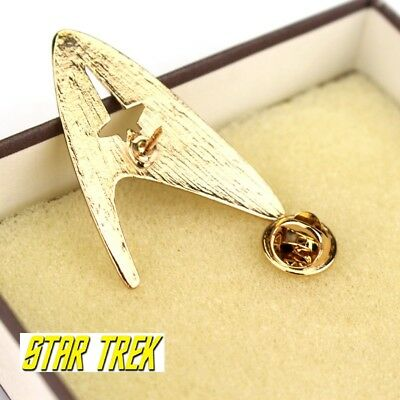Star Trek Logo Metal Pin brooch Gold color Collectible gift decor cosplay 2