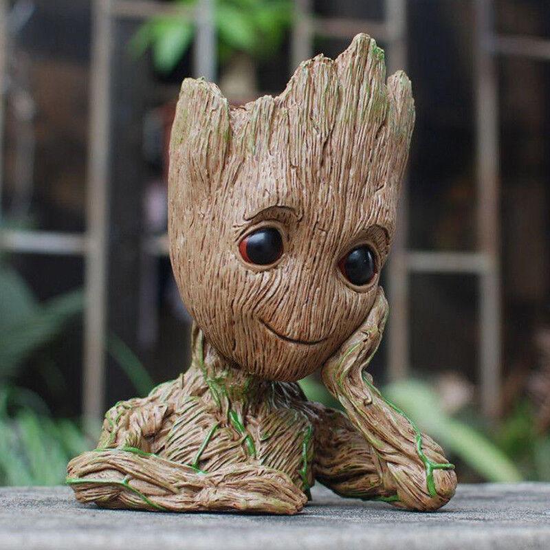 Guardians of The Galaxy Baby Groot Planter Pen Flowerpot Tree Man Brush Pen Pot 2