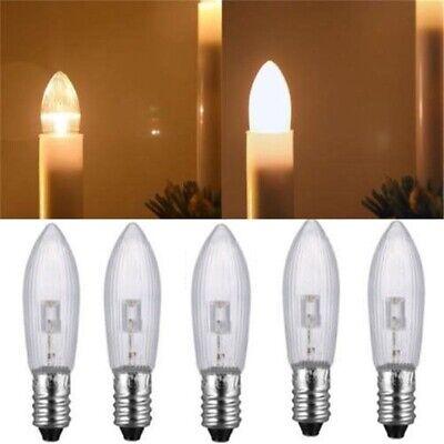 100x LED E10 Topkerzen Riffelkerzen Spitzkerzen Ersatz Lichterkette 0,2W 10-55V 6