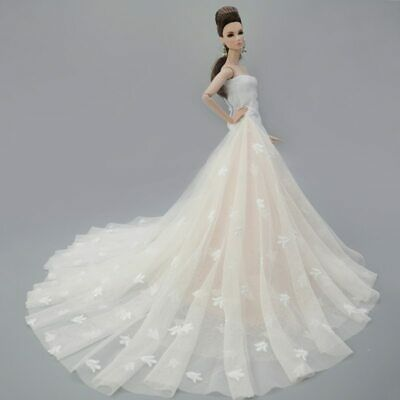 Colorful Floral High Fashion Doll Clothes for 1/6 Doll Wedding Dress Party Gown 11