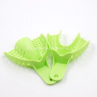 10 Pcs Autoclavable Dental Plastic Impression Trays Central Denture Disposable 5