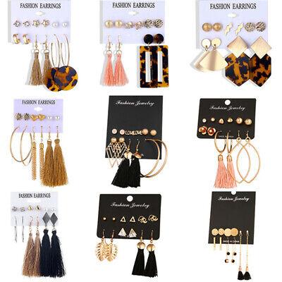 15Pairs Korean Style Earrings Set Tassel Crystal Ear Stud Dangle Hook Chic Women 4