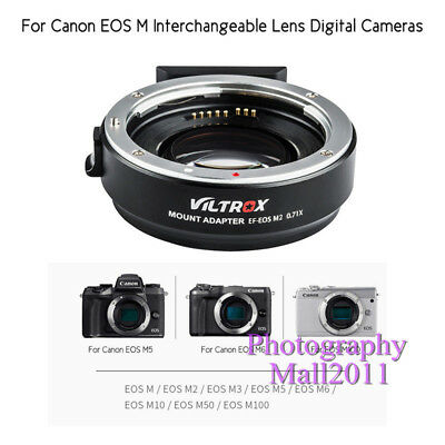 Viltrox EF-EOS M2 II AF Lens Adapter for Canon EF Lens to Canon EOS-M50 M3 M6 M2 6