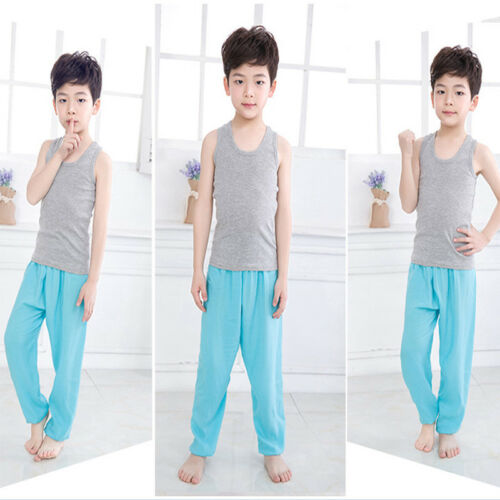 Kids Girls Boys Harem Loose Trousers Baggy Bloomer Pants Children Dance Bottoms 10