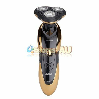 New Rotary 3D Rechargeable Washable Men's Cordless Electric Shaver Razor【AU】 2