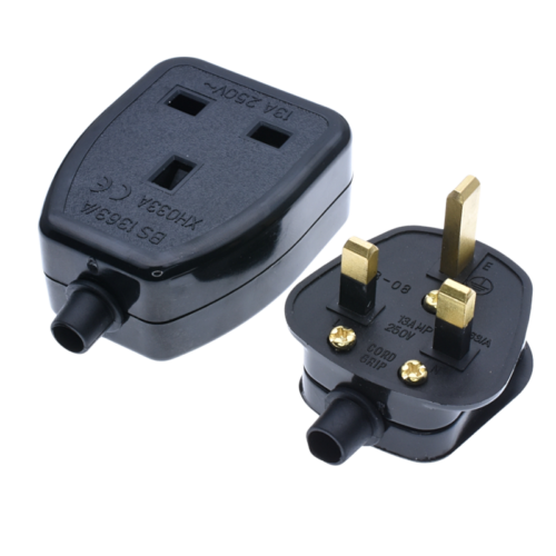 REWIREABLE UK Singapore Rewireable Power Plug 3 Pin Wall  AC100~250V 13A  Fused 4