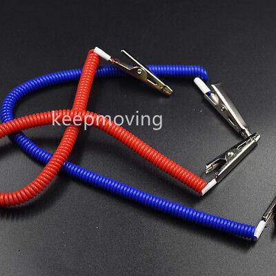 20 Pcs Dental Patient Bib Clips Chains Napkin Holder Flexible Coil Plastic 3