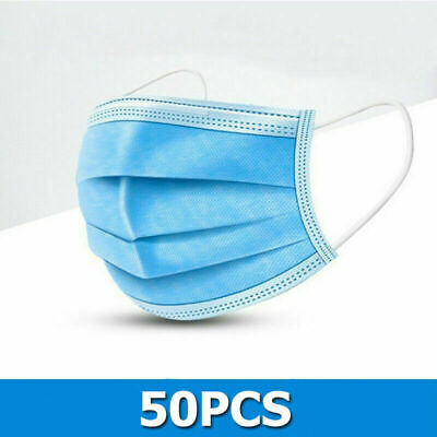 50 PCS Face Mask Medical Surgical Dental Disposable 3-Ply Earloop Mouth Cover 9