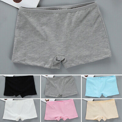 Kids Girls Teens Boxer Shorts Panties Briefs Knickers Cotton Comfy Underwear 3