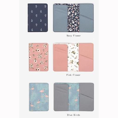 Animals Flower Faux Leather Passport Holder Cover Travel Wallet Organize Bag BS 6