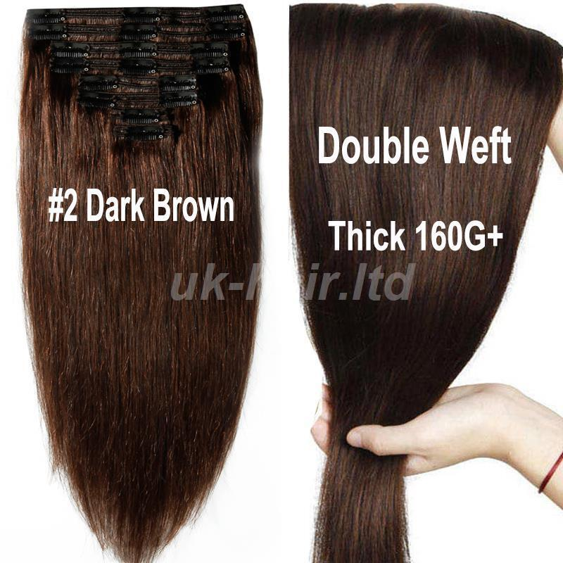 Double Weft Extra Thick 160g Clip In Remy Human Hair Extension