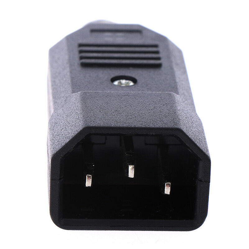 3 Pin IEC 320 C14 Male Plug Rewirable Power Connector Socket AC Panel Socket UK 7