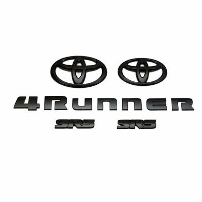 2014 2015 2016 2017 2018 TOYOTA 4RUNNER SR5 MATTE BLACK 5PCS EMBLEM KIT SET