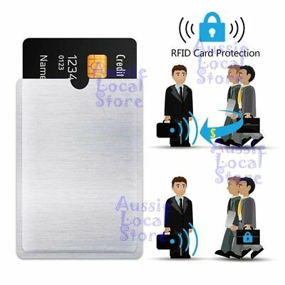 RFID Blocking Sleeve Secure Credit Card ID Protector Anti Scan Safet 4xL + 10xS 2