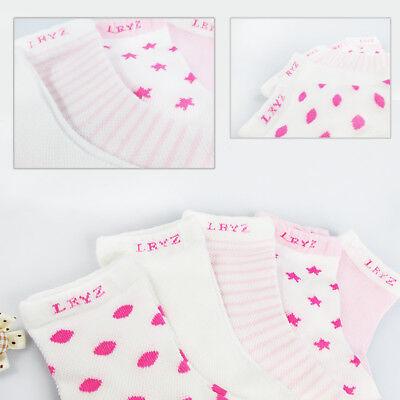 5 Pairs NewBorn Baby Boy Girl Cartoon Cotton Socks Infant Toddler Kids Cute Sock 5