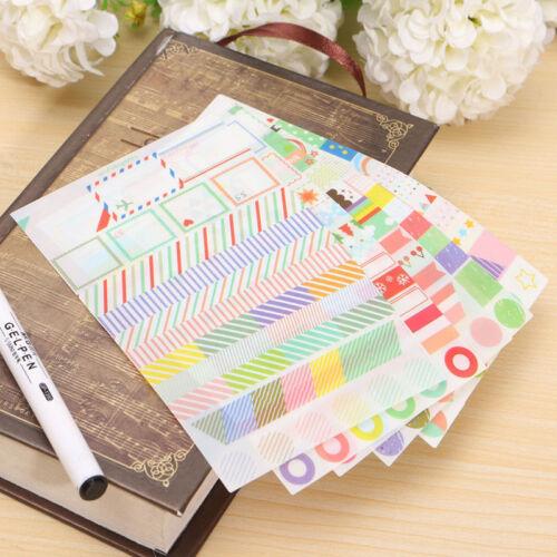 6 Stück Album Sammelalbum Kalender Tagebuch Planer Karte Sticker Dekor Neu Nue 2