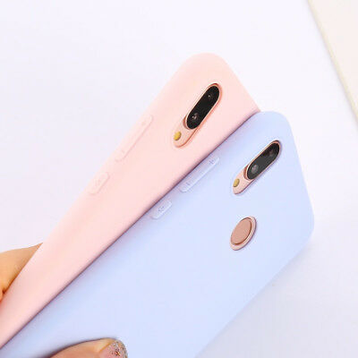 Candy Color Case for Huawei Y5 Y6 Y7 Y9 Honor 8x P20 Cover Smart Soft Silicon 2