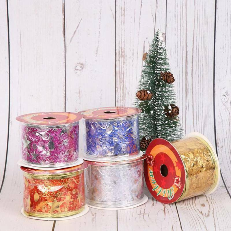 Christmas Organza Ribbon Sparkly Gift Wrap Tying Wreath Tree Decoration J 4