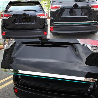 Tailgate Lid Door Molding Trim Chrome Rear Trunk Cover For Toyota Highlander 14