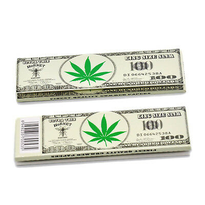 50 x Hornet Dollar King Size 110*54MM Rolling Papers 32 Leaves a Booklet 5