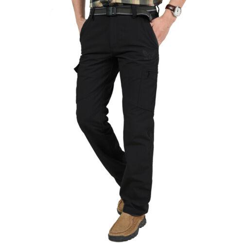 Men's Thermal Winter Pants Fleece Lined Elasticated Work Cargo Combat Trousers 10