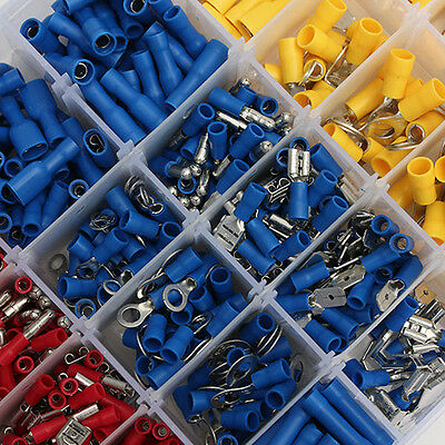 Electrical Wire Connector 720pcs Assorted Insulated Crimp Terminals Spade Set DH 6