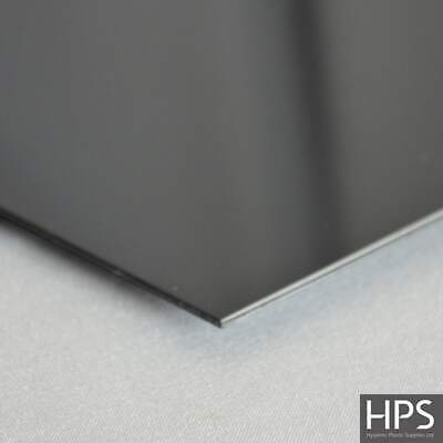 Black PVC splashbacks and matching fixing profiles