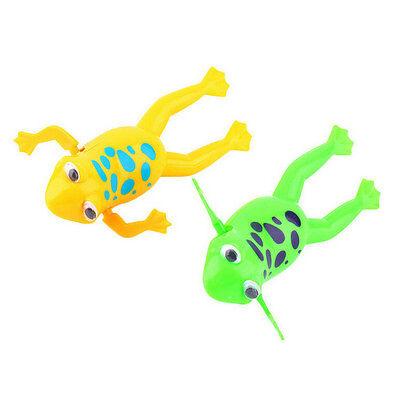 Wind-up Frog Swimming NPol Bath Time Animal Clockwork Floating Kid Baby Toy TWUK 6