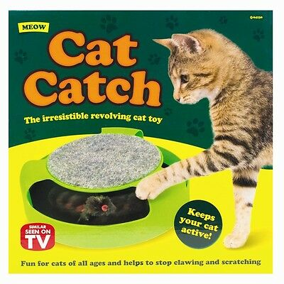 Catch The Mouse Cat Kitten Toy Scratching Claw Care Mat Motion Plush Moving Toy 2