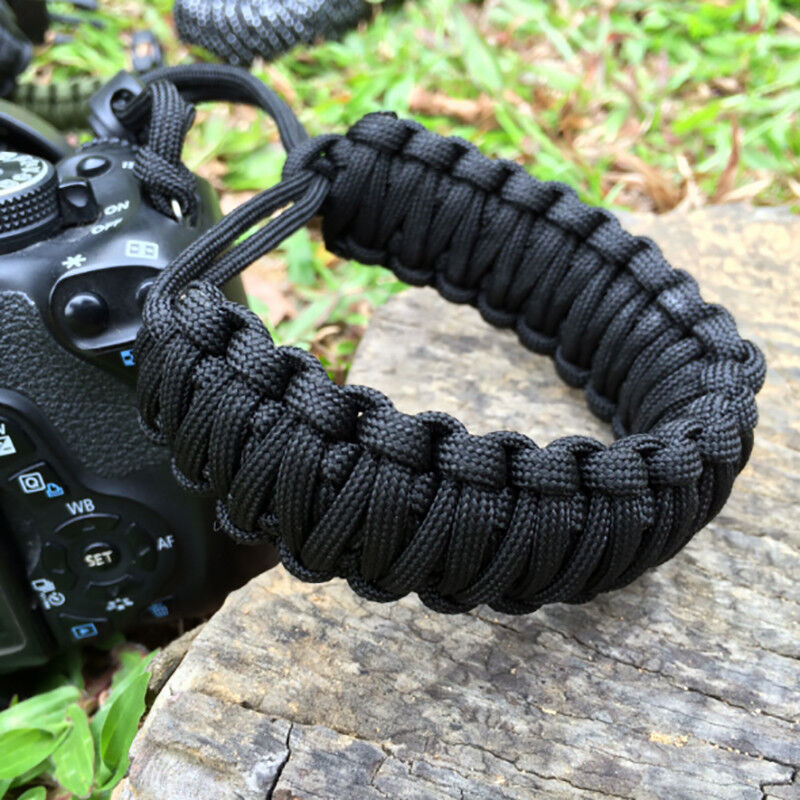 Adjustable Camera Wrist Strap Braided Strong Weave Lanyard For Paracord DSLR 2