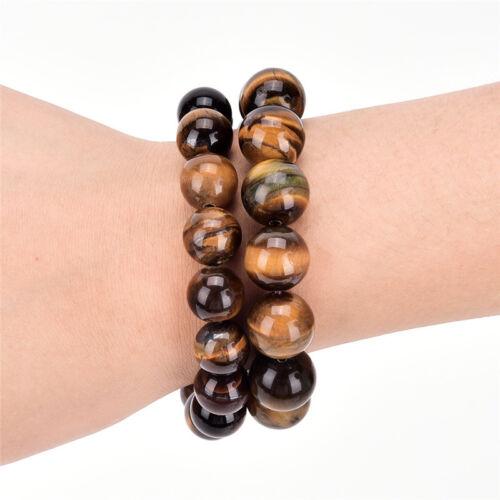 Natural Tiger Eye Stone Lucky bénir perles homme Bracelet Bijoux femme 5