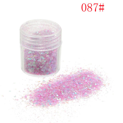 10ml Nail Glitter Dust Powder Art Tips Manicure Decoration Set Craft 6