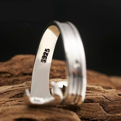 Men's Retro Love Vintage Punk Rings Sterling Silver Cool Wrench Silver Jewelry 5