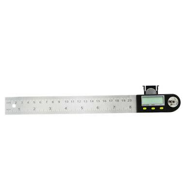 200 mm 8 inch Electronic Digital Protractor Goniometer Angle Finder Steel Ruler 3