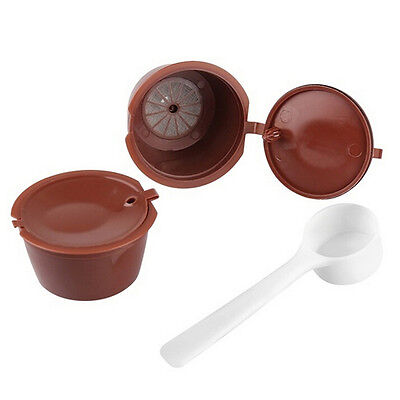 Refillable Reusable Coffee Capsule Pods Cup for Nescafe Dolce Gusto Machine AT 2