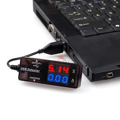 LED USB Charger Doctor Voltage Current Meter Tester Power Detector Red Blue
